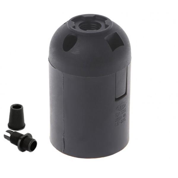 Патрон люстровий пластиковий Black