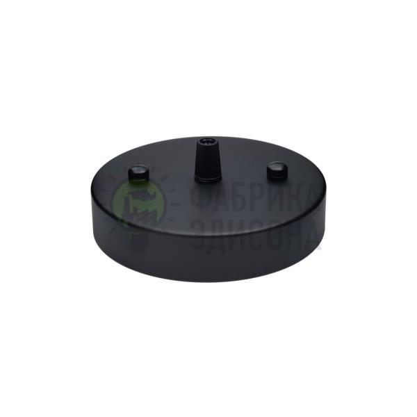 Потолочный крепеж Puck Black с заглушками