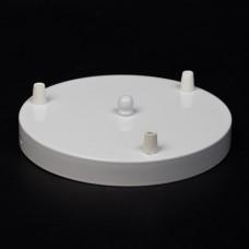 Потолочный крепеж на три отверстия белого цвета D200