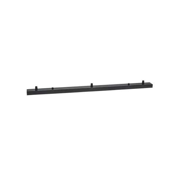 Потолочная планка на 3 отверстия 700 mm Black
