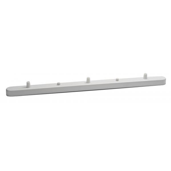 Потолочная планка на три отверстия Белого цвета для подвесов 550 мм