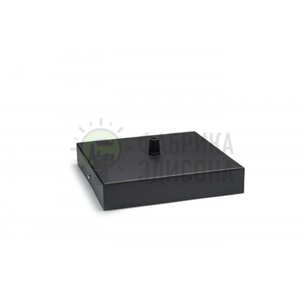 Квадратный потолочный крепеж L160 Black