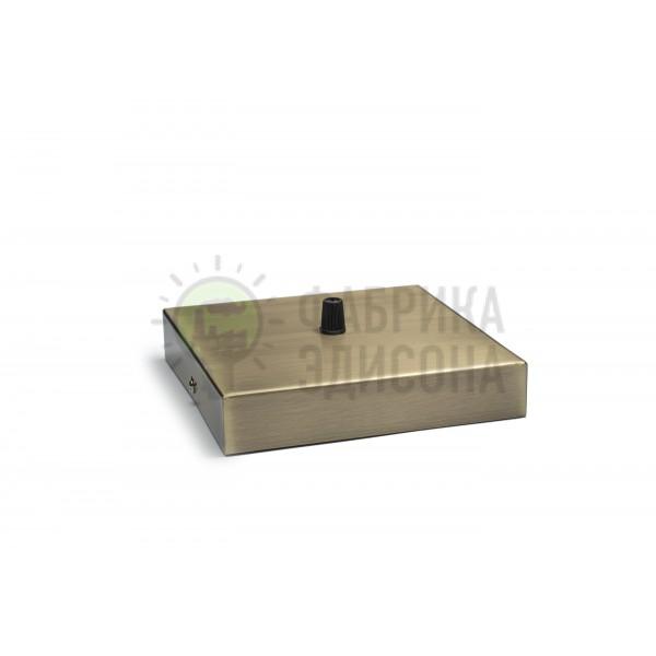 Квадратный потолочный крепеж L160 Bronze