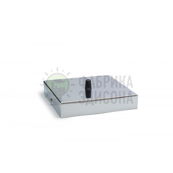 Квадратный потолочный крепеж L160 Chrome