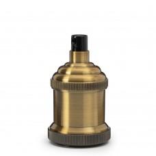 Ретро патрон с прижимной гайкой Gold Bronze