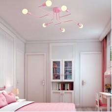 Потолочная люстра SCHEME PINK розового цвета