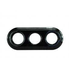 Рамка керамічна потрійна чорного кольору