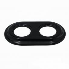 Рамка керамічна подвійна чорного кольору