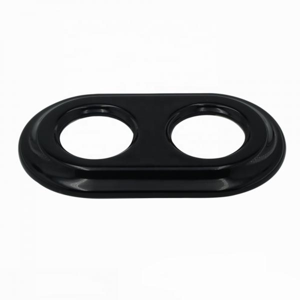 Рамка керамическая двойная Черного цвета