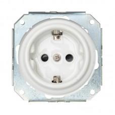 Механизм для керамічної розетки білої прихованого монтажу