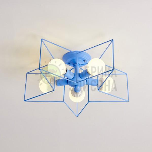 Минималистские потолочные люстры в форме звезды с теплым или холодным светом