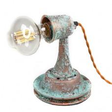 Настольная лампа в стиле лофт Окись меди