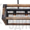 Подвесной светильник Square Metal and Wood