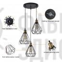 Підвісний світильник Black Metal Cage Diamond