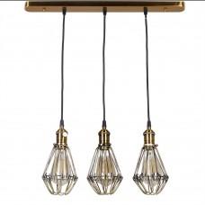 Подвесной светильник Masero в стиле лофт с ретро патронами