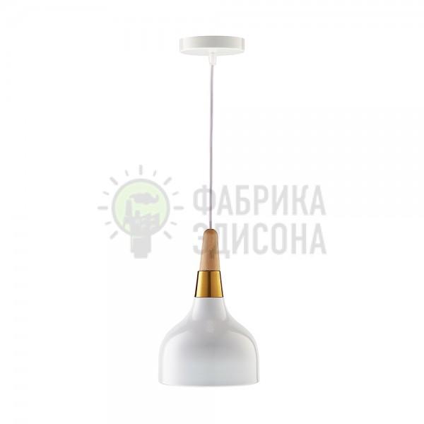 Підвісний світильник Gold Wood White