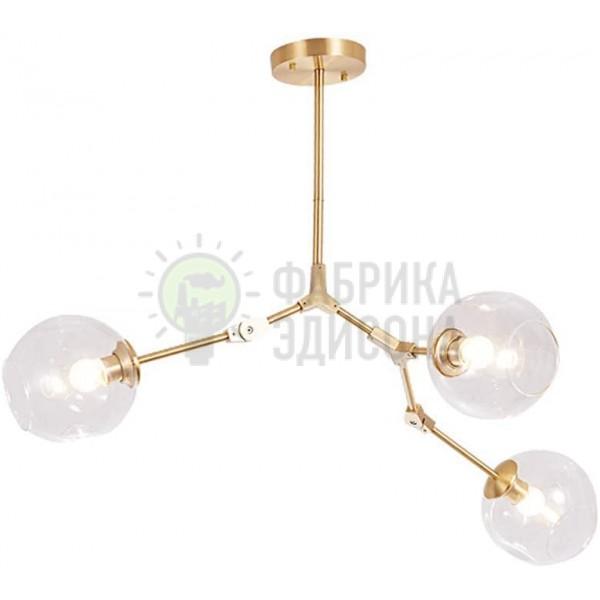 Люстра Molecules 3 Gold