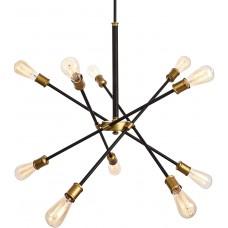 Люстра Sputnik 10 Black & Brass