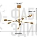 Люстра Sputnik Modern 6 Gold