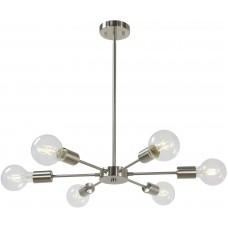 Люстра Sputnik Chandelier Nickel 6 Lights