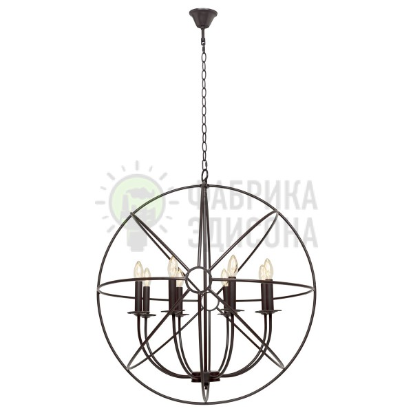 Люстра Candles Orb 8 Black