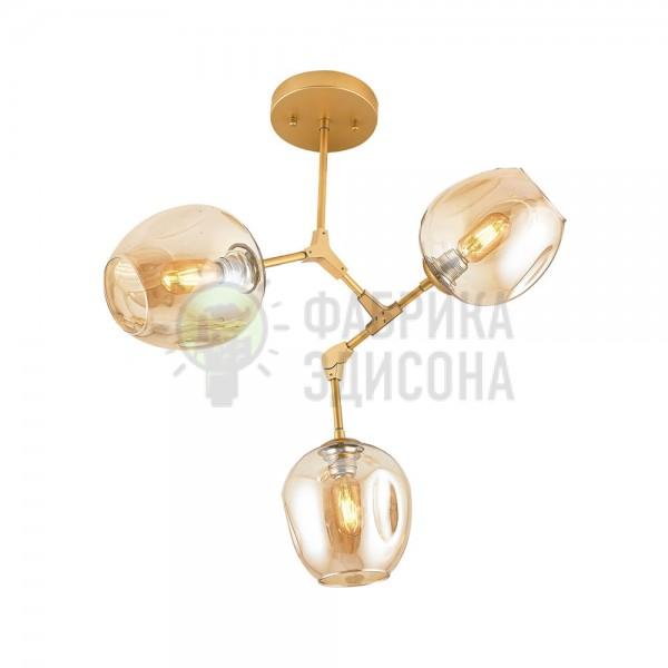 Люстра Molecule 3 Gold