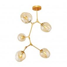 Люстра Molecule 5 Gold