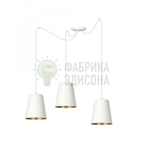 Люстра Lonky 3 White/Gold