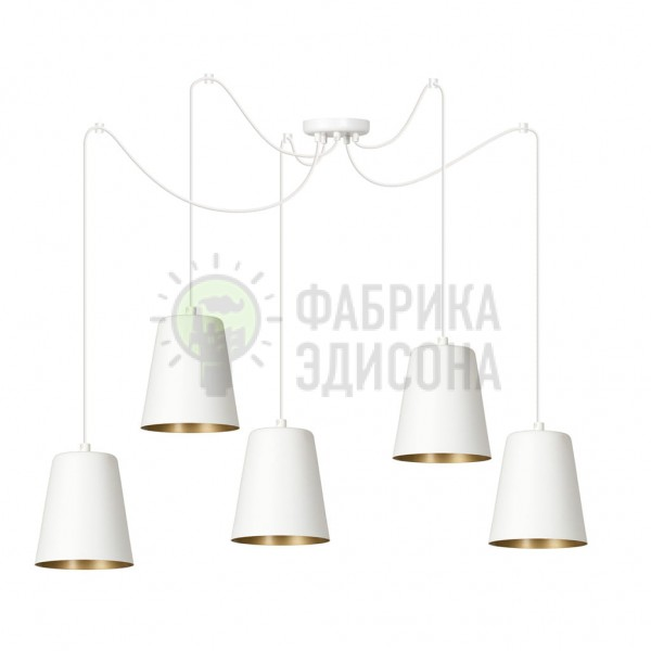 Люстра Lonky 5 White/Gold