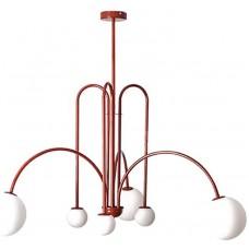 Люстра Nordic Modern Sputnik 6 Red