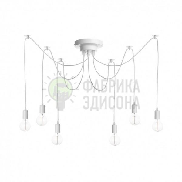 Потолочный светильник паук белый 6