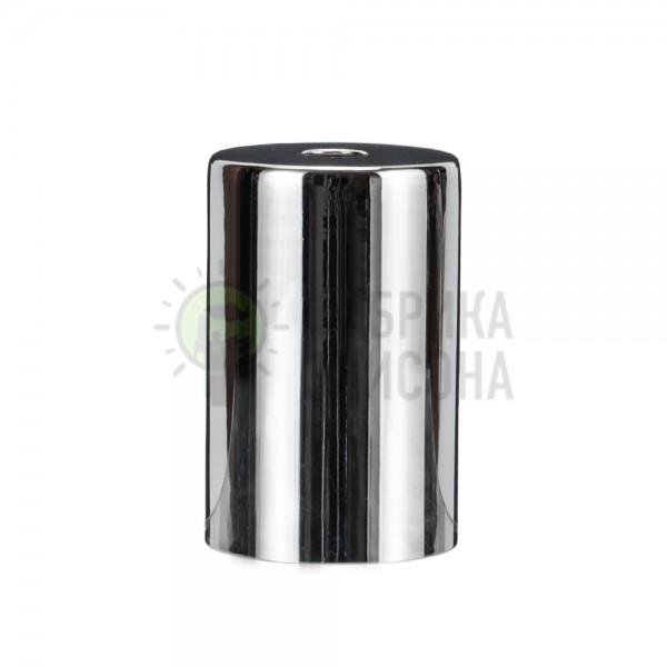 Металева накладка для цоколя Е-27 Cylinder Chrome