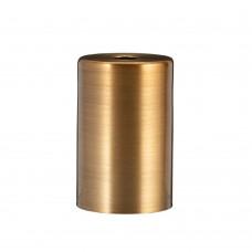 Металева накладка для цоколя Е - 27 Cylinder Gold
