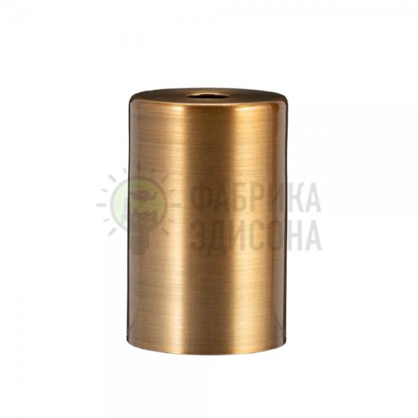 Металева накладка для цоколя Е-27 Cylinder Gold