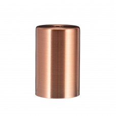Металева накладка для цоколя Е - 27 Cylinder Copper