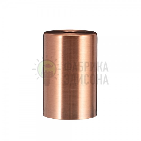 Металева накладка для цоколя Е-27 Cylinder Copper