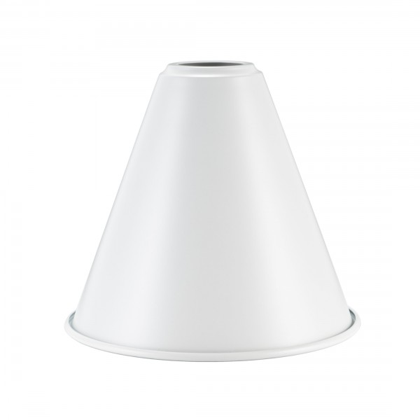 Сталевий абажур Cone D18 White