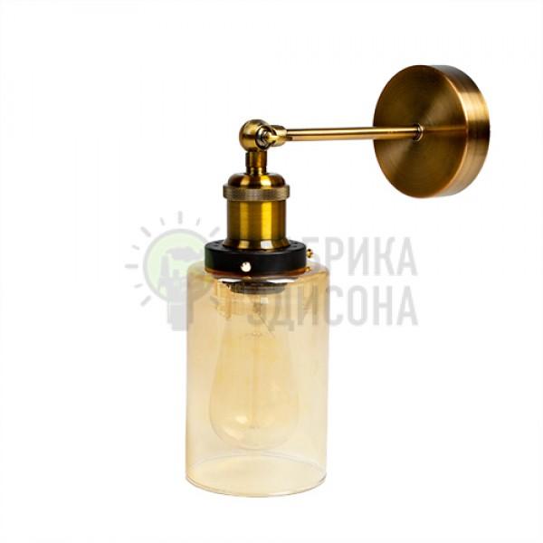Настінний світильник Amber Glass Cylinder
