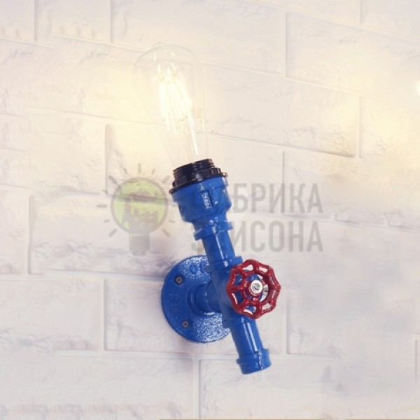 Бра Industrial Pipe Blue