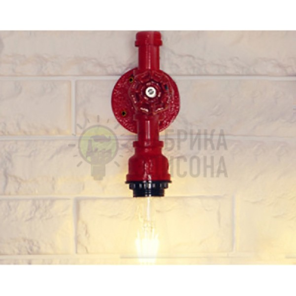 Бра Industrial Pipe Red