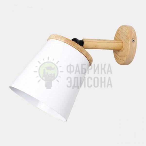 Настінний світильник Metal&Wood White