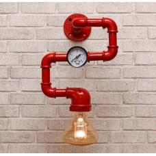 Настенный светильник из труб Noka Red