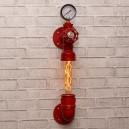 Настінний світильник з труб Noka Red