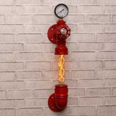 Настенный светильник из труб Premo Red