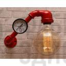 Настінний світильник з труб Mezury Red
