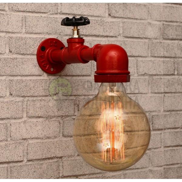 Настінний світильник з труб Valony Red
