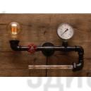 Настінний світильник з труб Hamana Black