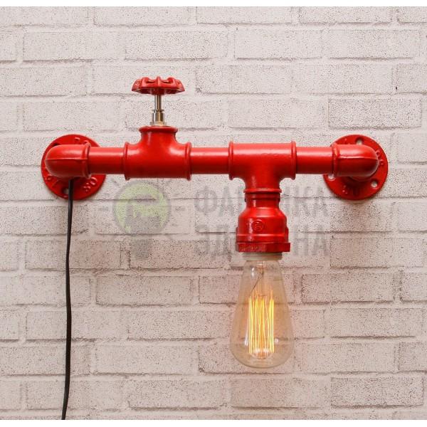 Настінний світильник з труб Peni Red
