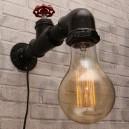 Настінний світильник з труб Valony 25 Black