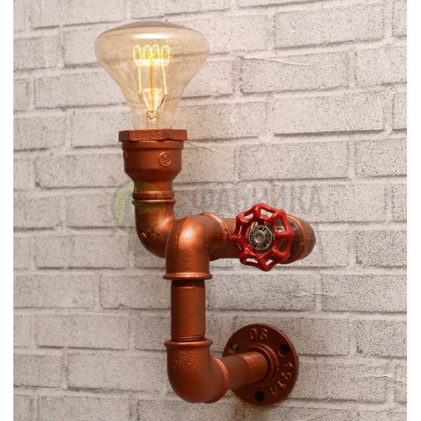 Настінний світильник з труб Lipen Copper